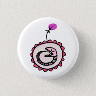 Baby ouroboros runder button 2,5 cm