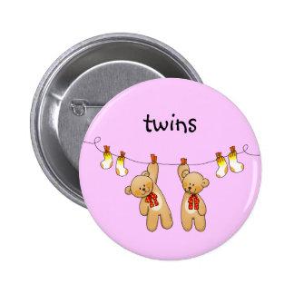 Baby paart (Mädchen) Runder Button 5,1 Cm