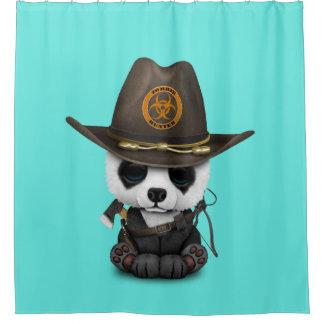 Baby-Panda-Bärn-Zombie-Jäger Duschvorhang
