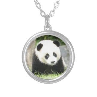 Baby-Panda Versilberte Kette