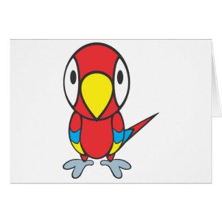 Baby-Papageien-Cartoon Karte