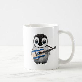 Baby-Pinguin, der israelische Flaggen-Gitarre Kaffeetasse