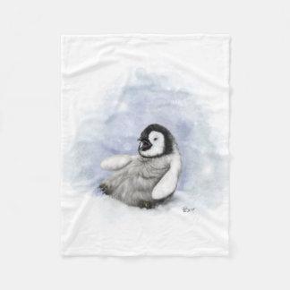 Baby-Pinguin-Gleiten Fleecedecke