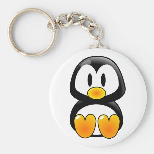 Baby-Pinguin-Smoking Schlüsselband