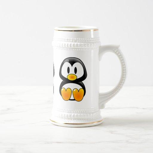 Baby-Pinguin-Smoking Stein Tassen
