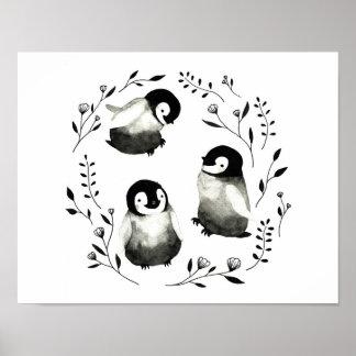 Baby-Pinguine Poster
