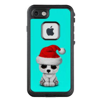 Baby-polarer Bär, der eine Weihnachtsmannmütze LifeProof FRÄ' iPhone 8/7 Hülle