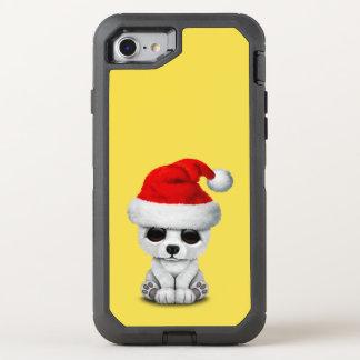 Baby-polarer Bär, der eine Weihnachtsmannmütze OtterBox Defender iPhone 8/7 Hülle