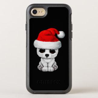 Baby-polarer Bär, der eine Weihnachtsmannmütze OtterBox Symmetry iPhone 8/7 Hülle