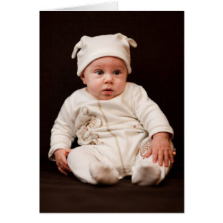 Baby-Porträt Karte