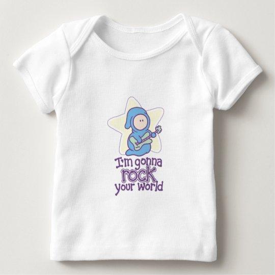 Baby-Rockstar-Rock Ihre Welt Baby T-Shirt
