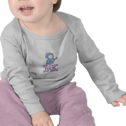 Baby-Rockstar-Rock Ihre Welt T-Shirts
