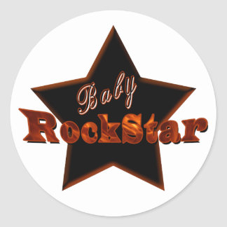 Baby RockStar Runder Aufkleber