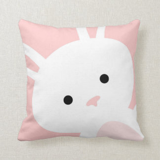 Baby-Rosa-Häschen-Kinderzimmerthrow-Kissen Kissen