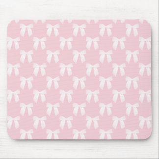 Baby-Rosa-Pastell mit weißen Bögen Mousepad
