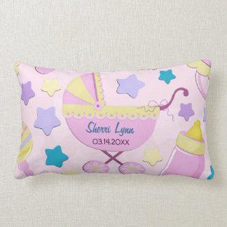 Baby-Rosa-Sterne und Wagen-Andenken-Kissen Lendenkissen