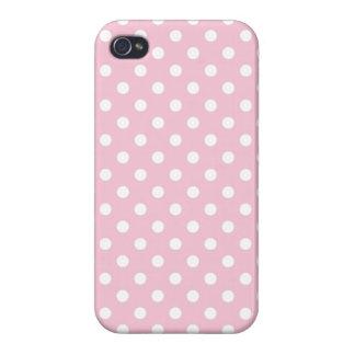 Baby-Rosa-und Weiß-Tupfen-Muster iPhone 4/4S Hülle
