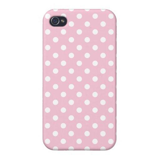 Baby-Rosa-und Weiß-Tupfen-Muster Etui Fürs iPhone 4