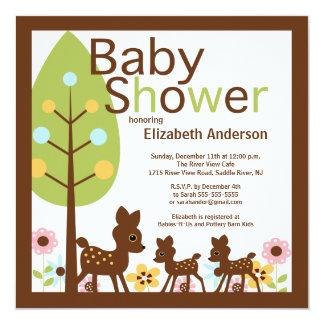 Baby-Rotwild PAART mehrfache Babyparty-Einladung Karte