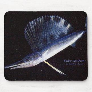 Baby sailfish mouse pad
