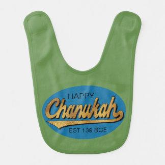 """Baby-Schellfisch Chanukah/Chanukka """"Retro Chanukah Lätzchen"""