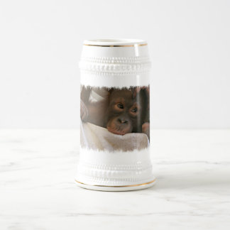 Baby-Schimpanse-Bier Stein Bierglas