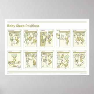 Baby-Schlaf bringt Plakat in Position