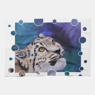 Baby-Schnee-Leopard-Tücher Geschirrtuch