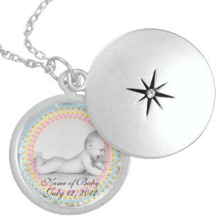 Baby-Schnuller-Andenken-Sterlingsilberlocket-NEC Sterling Silberkette