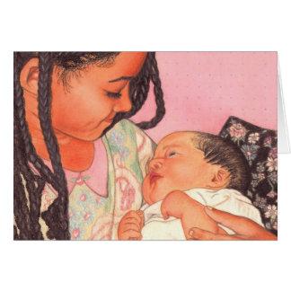 Baby-/Schwester-Liebe-Gruß-Karte Karte