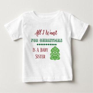 Baby-Schwester-Weihnachtsweste Baby T-shirt