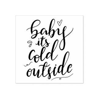 Baby sein kalte Außenseiten-handgeschriebenes Gummistempel