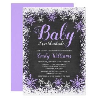 Baby seine kalter äußerer Schnee-lila Karte