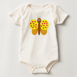 Baby-Shirt des Bonbon-Fantasie-Schmetterlinges Baby Strampler