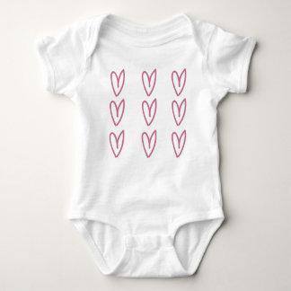 Baby-Shirt mit Herzen Baby Strampler