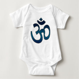 Baby-Shirt, Ohm-Symbol, blau Baby Strampler