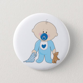 Baby Soother Junge Runder Button 5,1 Cm