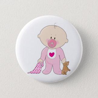 Baby Soother Mädchen Runder Button 5,1 Cm