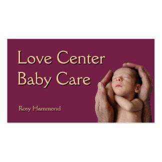Baby-Sorgfalt Visitenkartenvorlage