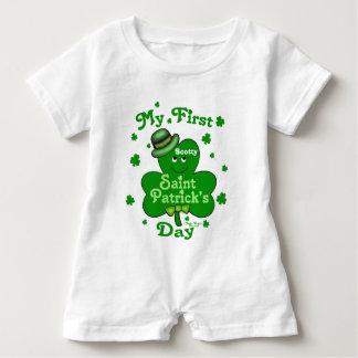 Baby-Spielanzug des St. Patricks des Baby Strampler