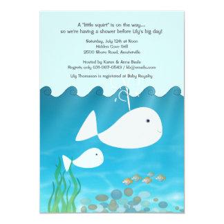 Baby spritzen Babyparty-Einladung Karte