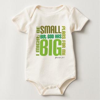 Baby-Strampler/-weste der großen Pläne Bio Baby Strampler