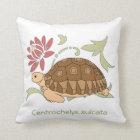 Baby Sulcata Schildkröten-Kissen Kissen