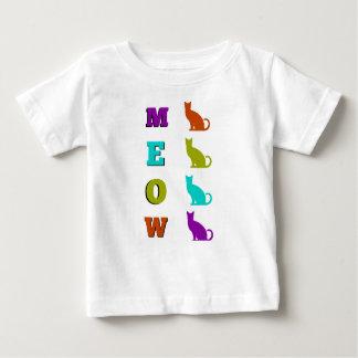 Baby-T - Shirt MEOW die Silhouette Halloween-Katze