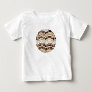 Baby-T - Shirt mit beige Mosaik