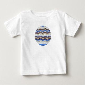 Baby-T - Shirt mit blauem Mosaik