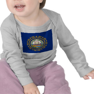 Baby-T-Shirt mit Flagge des New Hampshire