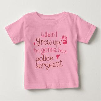 Baby-T - Shirt Polizei-Sergeant-(Zukunft) Säugling