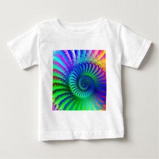 Baby-T - Shirt - psychedelisches Fraktalblau