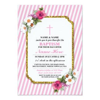 Baby-Tauftaufe-lädt Blumenmädchen-Holz ein Karte